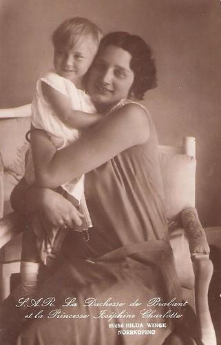 Kronprinzessin Astrid von Belgien mit Tochter Josephine Charlotte