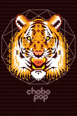 Chobopop Geometric Tiger Iphone Wallpaper A Photo On Flickriver