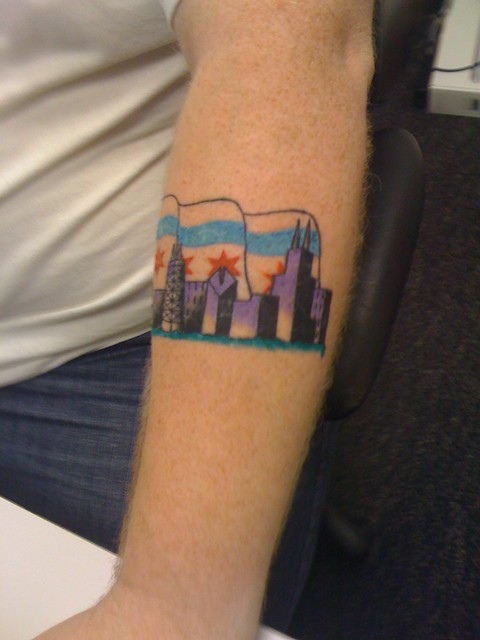 Chicago flag skyline flickr photo sharing for Twisted tattoo chicago