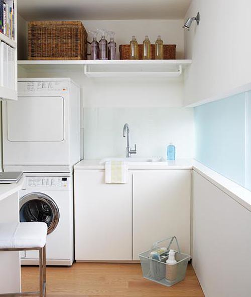 Small Laundry Rooms With Stack W D