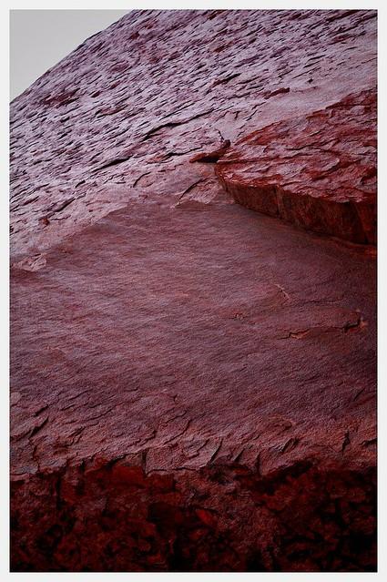 The glistening textures of Uluru