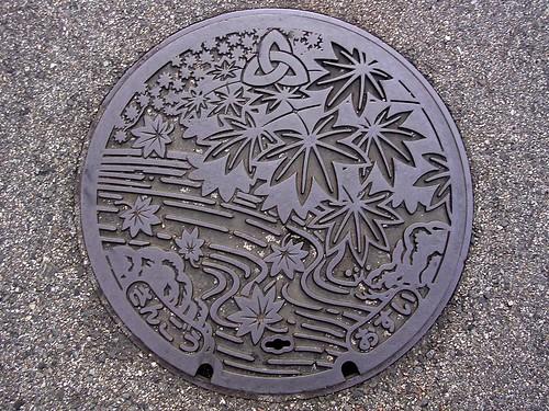 Sango,Nara manhole cover(奈良県三郷町のマンホール)