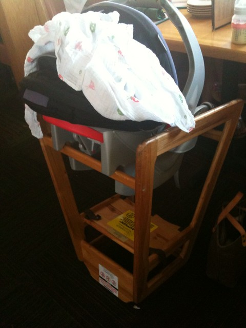 infant car seat high chair for relaxed resturant dining flickr photo sharing