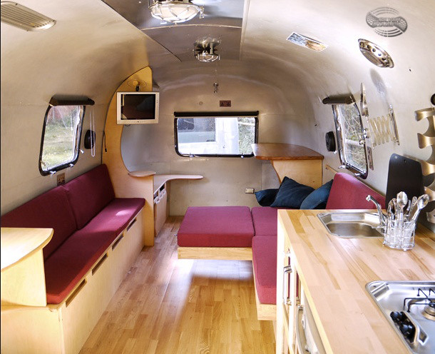 Silver stage airstream interior flickr photo sharing for L interieur trailer