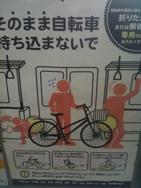 Japanese train sign