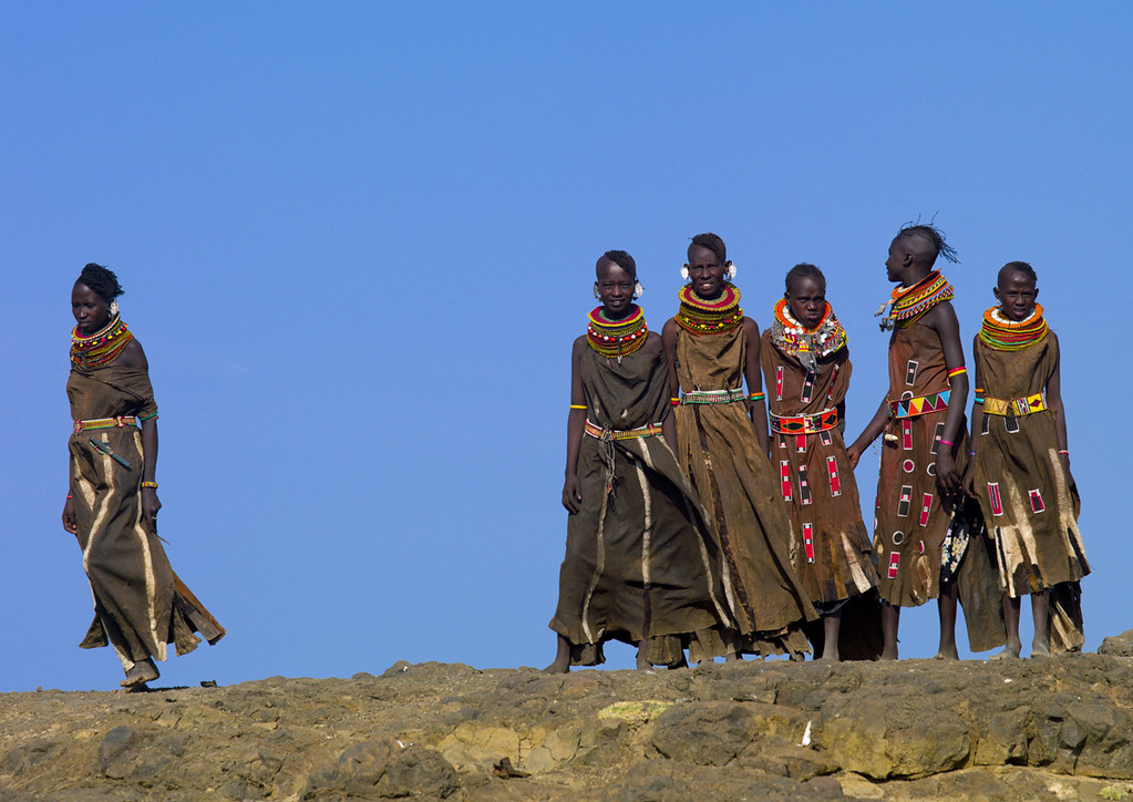 Turkana women in traditional dress - Kenya