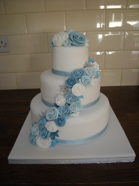 baby blue and silver wedding cakes blue wedding cake flickr photo 10993