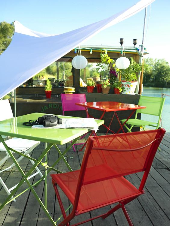 Salon de jardin multicolore | P31-mobilier de jardin floris ...