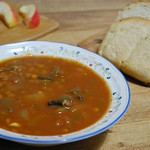 Lentil Portabello Stew (vegan) w/ Bread