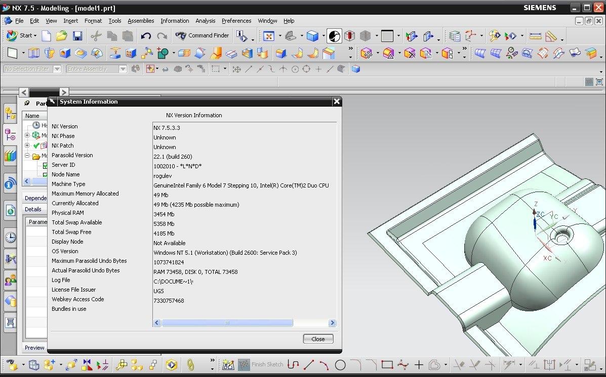 Designing with SIEMENS PLM NX 7.5 full crack