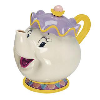來當我的客人吧~~ThinkGeek 美女與野獸【茶煲太太】陶瓷茶壺 Beauty and the Beast Mrs. Potts Teapot