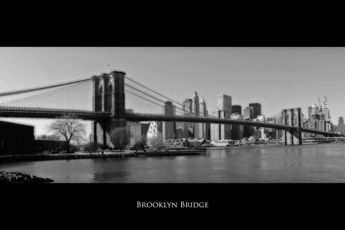 Brooklyn Bridge in B&W