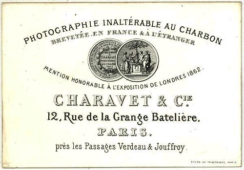 Charavet & Cie - Business Card, 1862