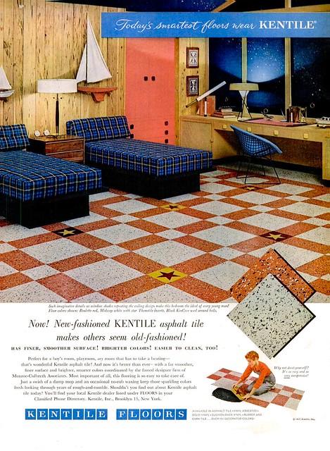 Kentile ad - 1957