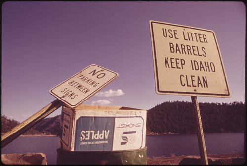On Coeur D'alene Lake, Evidence That Littering Rules Are Sometimes Obeyed 05/1973