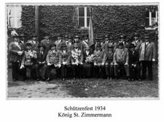 1934, Schützenfest, König Stephan Zimmermann, SW036