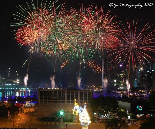 2010 New Year at Marina Bay, Singapore