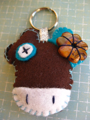 Happy Lucky Cow- Keyring