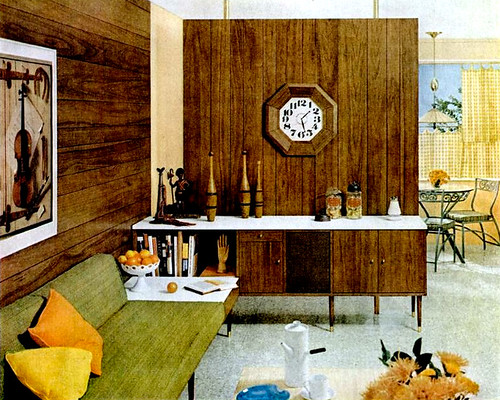 Mid century living living rooms 1960 65 for 1960s decoration