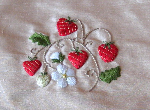 Strawberry Stumpwork
