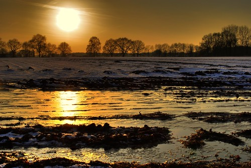 winter sunset sun snow cold water reflections soleil photo nikon wasser sonnenuntergang kalt sonne spiegelung hdr d60 niklas94