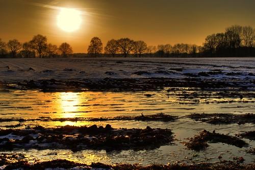 winter sunset sun snow cold water reflections soleil photo nikon wasser sonnenuntergang kalt sonne spiegelung hdr d60 niklas94