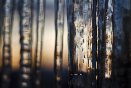 winter sunset cold ice bokeh drip icicle icicles 50mmf18 canoneos50d warmthandcold