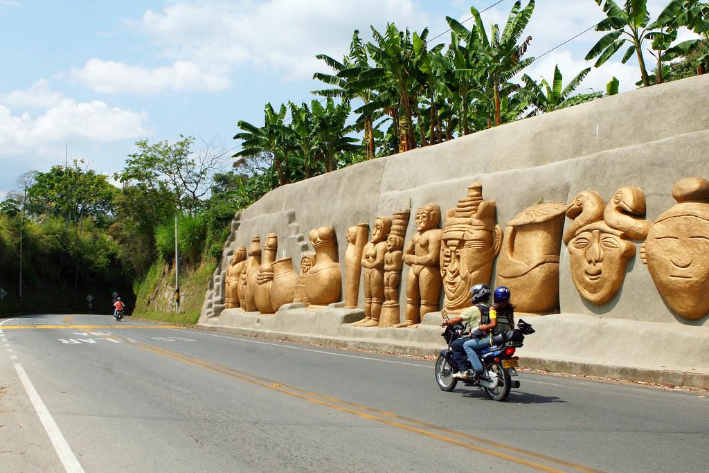 Imagen de una de las entradas a Quimbaya, Quindio