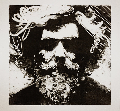 monotype self portrait