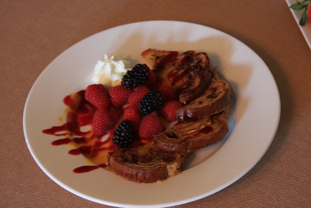 French Toast with Berry Coulis and fresh berries | Flickr ...