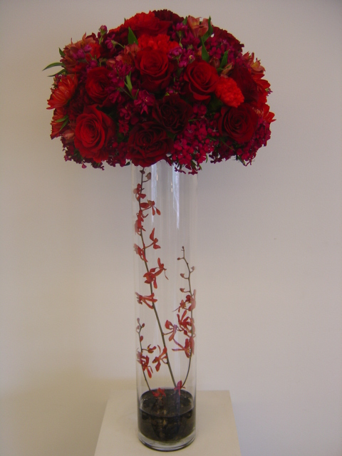 Tall red and burgundy centerpiece explore meesaaifd s