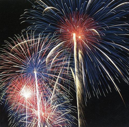 Great Big Fireworks, Red White and Blue Star Bursts - Epic Fireworks