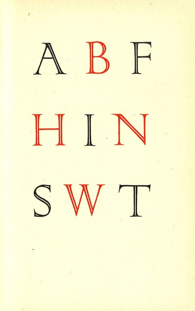 Lettering by Percy Smith, Curwen Press Almanack, 1926