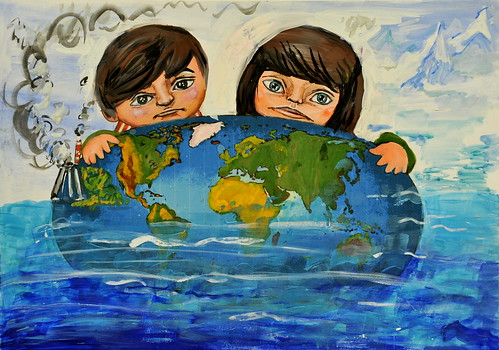 Climate change: Russian art contest