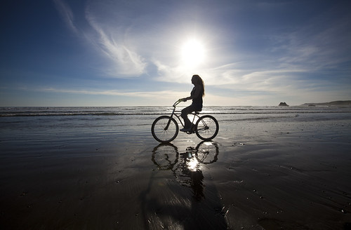 Girl on Bike by chakkababy