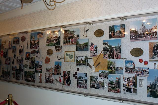 Magic Kingdom through the years displays inside Expo Hall