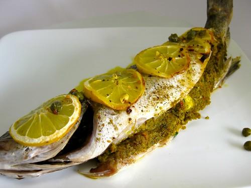 Branzino stuffed and baked for What is branzino fish