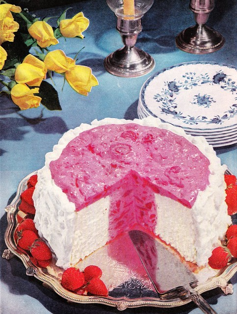 Angel Food Cake with Strawberry, Blueberry, and Orange Sauce by jkpa