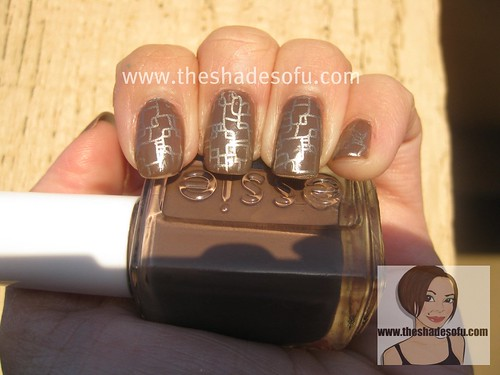 Fauxnad nail stamp art essie in mink muffs and china for 3d nail salon upland ca