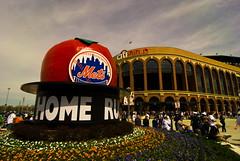 Shea Stadium Home Run Apple Outside Citi Field