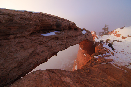 Mesa Arch - Fog, Canyonlands National Park, Utah, United States