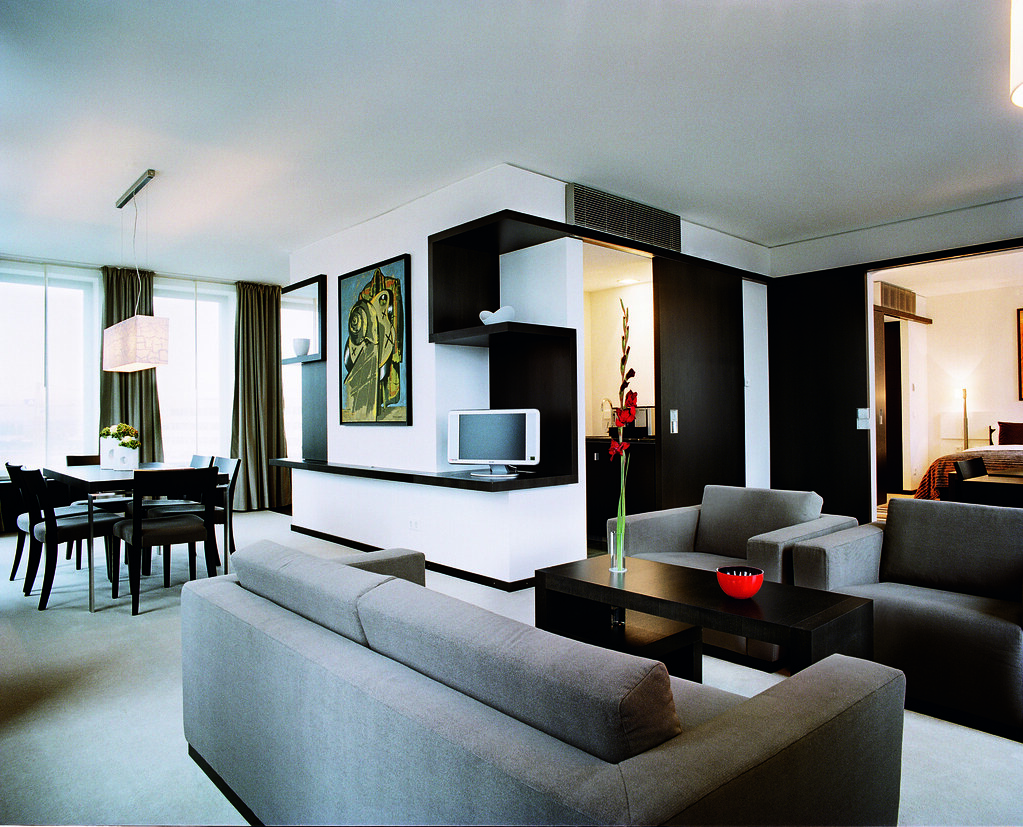Modern high tech trendy looking executive room at the Hotel ...