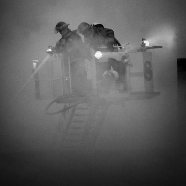 Grandville Fire B&W 0966