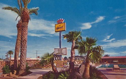 vintage texas postcard motel siesta laredo motorhotel