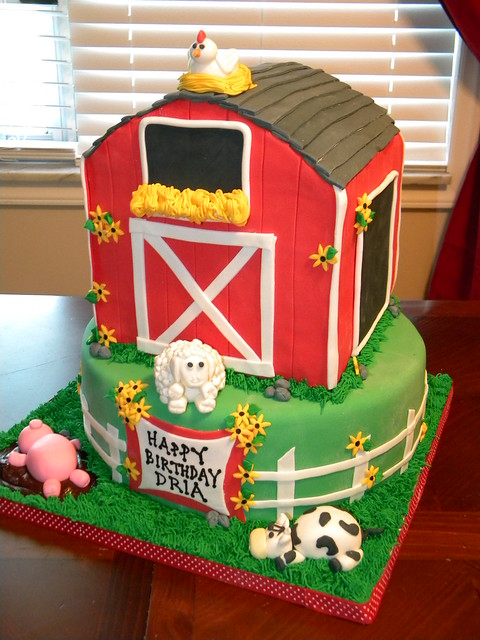 Farm House Cake Toppers