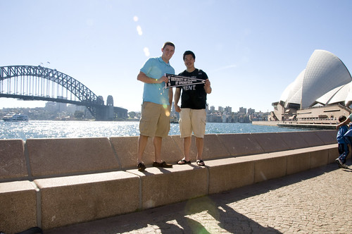 Brad ('05) and Howard ('09) in Sydney, Australia