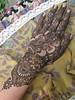 Asha Savla Henna Design on Hand from Mehandi Party Book Volcano Henna By Melissa