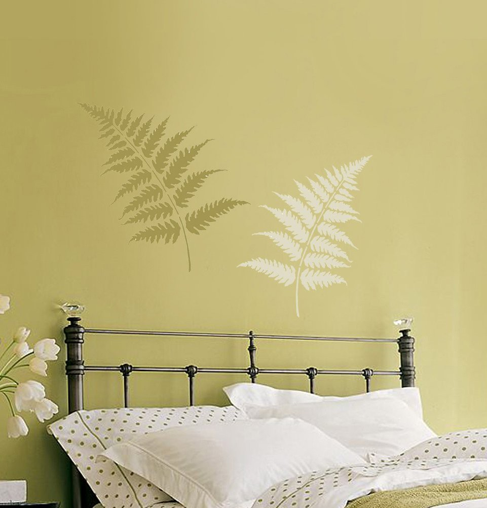 Large Painting Stencils For Walls : Wall stencils large fern leaves beautiful