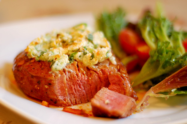 Fancy Steak with Blue Cheese Butter | Flickr - Photo Sharing!