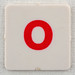 hangman tile red letter O